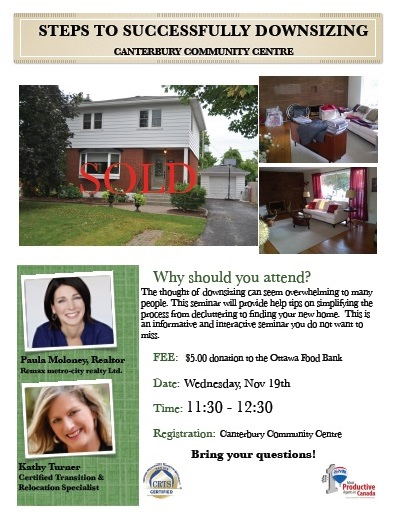 Downsizing with Paul Moloney Nov. 19, 2014